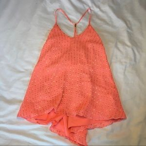 Lilly Pulitzer coral pink and gold top